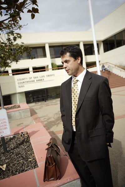 THE DEFENSE :  Attorney Matt Guerrero is the public defender for Proposition 36 defendants. He said people test dirty on drug tests in court all the time, particularly now because of a waiting list. - PHOTO BY STEVE E. MILLER
