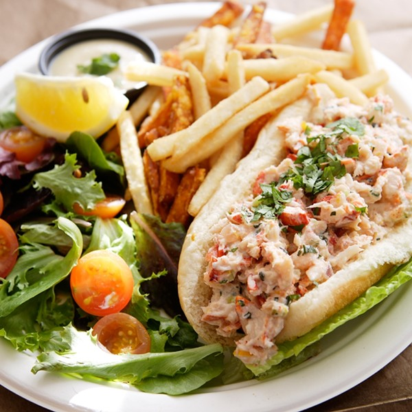 SO FINE :  Your Bar Harbor friends can't get better lobster rolls than those at Pier 46. - PHOTO BY STEVE E. MILLER