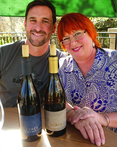 LUMINOUS LANE:  Co-Owner Will Henry gave Lane Tanner an offer she couldn't refuse, so she came out of retirement to be partners with him at Lumen Wines. - PHOTO BY STEVE E. MILLER