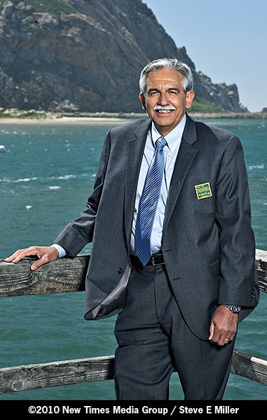 """BACK HOME :  After 36 years with the Highway Patrol in Los Angeles, Morro Bay native Michael """"Tex"""" Teixeira has returned home; gangs and departmental transparency are his stated priorities. - PHOTO BY STEVE E. MILLER"""