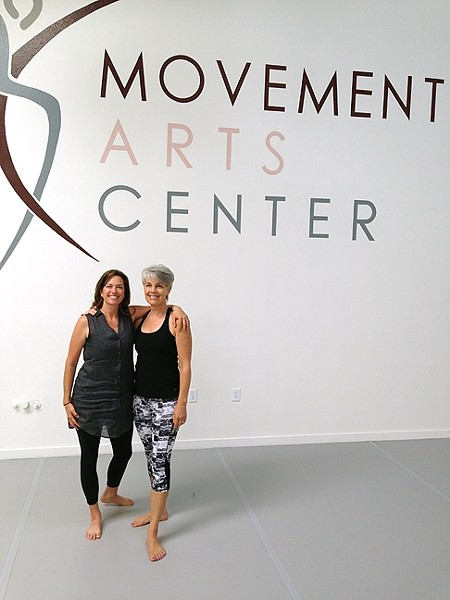 BACK IN TOWN:  Catherine Halcomb (left) and Shelley Massa-Gooch (right) are offering classes in shadow, restorative, beginner, and pregnancy yoga at the SLO Movements Arts Center. - PHOTO BY PETER JOHNSON