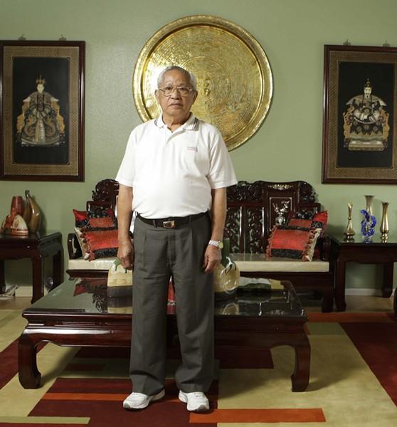 FIGHTING VETERAN :  Santa Marian Ben Reyes was a member of the New Philippine Scouts in World War II. In his eyes, he's always been a U.S. veteran. - PHOTO BY STEVE E. MILLER