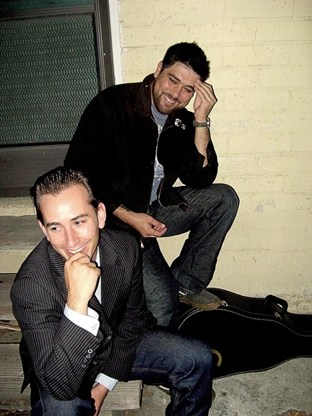 REVERSIBLE! :  Jody Mulgrew and Sebastian Luna (left) and Sebastian and the Lunas (right) both feature Mulgrew and Luna. One plays July 16 at the Clubhouse, the other July 18 at the Porch. - PHOTOS COURTESY OF AMANDA GRILL