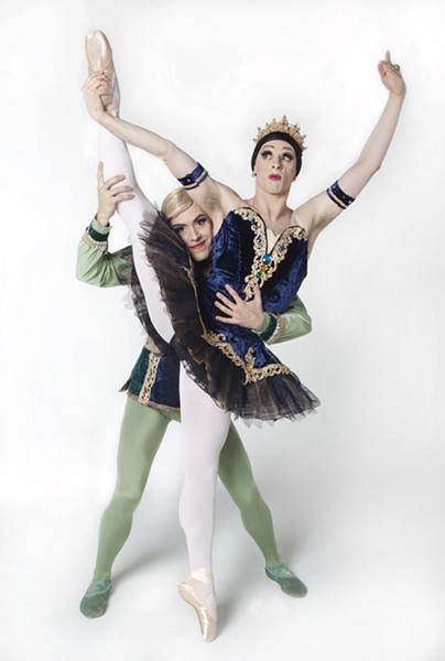 TIGHTS AND TUTUS:  Founded in 1974, Les Ballets Trockadero de Monte Carlo specializes in comedic ballet with their drag adaptations of - ballet standards. - PHOTO COURTESY OF CAL POLY ARTS