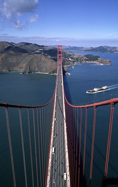 GOLDEN GATE BRIDGE, 1988: - PHOTO COURTESY OF SANTI VISALLI