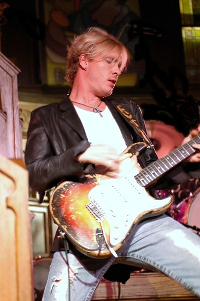 YOUNG GUN SLINGER :  Blues guitarist Kenny Wayne Shepherd, who plays May 24 at the Avila Beach Blues Festival, most recently recorded an album with his musical heroes, including B.B. King and Honeyboy Edwards. - PHOTO COURTESY OF KENNY WAYNE SHEPHERD