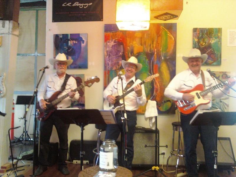 CALLING ALL LINE DANCERS! :  Country trio Solomon Creek plays at the SLO Down Pub on June 7. - PHOTO COURTESY OFSOLOMON CREEK