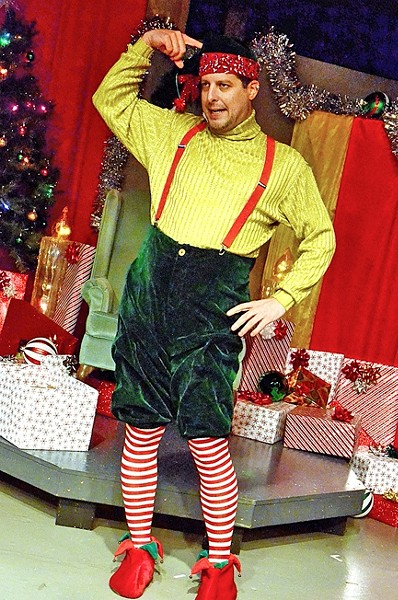 THIS IS MY WORK UNIFORM:  In exchange for some cash over the holidays, David Sedaris (Kevin Harris) becomes Crumpet the Christmas Elf at Macy's where he witnesses the best and worst humanity has to offer, from a kid peeing in the fake snow to a seemingly legit Santa bringing families together. - PHOTO COURTESEY OF JAMIE FOSTER PHOTOGRAPHY