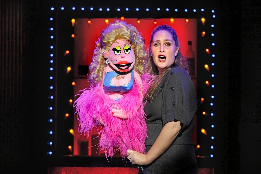 MAN'S BEST FRIEND :  Lucy the Slut, manned by Jacqueline Grabois, bed hops through the fictional neighborhood of Avenue Q. - PHOTO COURTESY OF AVENUE Q