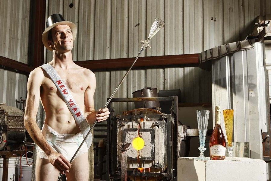 NEW YEAR BABY :  Nov. 15, 2007. Glass-blower Evan Chambers poses as the New Year Baby for New Times' Holiday Guide. - PHOTO BY STEVE E. MILLER