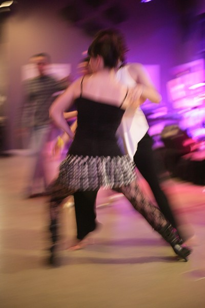 MALE SHORTAGE :  A couple gals take to the dance floor when male partners aren't available. - PHOTO BY GLEN STARKEY