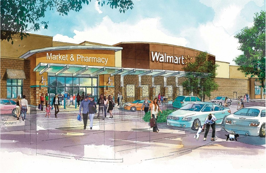 GREEN LIGHT:  This is architectural rendering reveals the proposed Walmart Neighborhood Market on El Camino Real and Del Rio Road in Atascadero. - IMAGE COURTESY OF THE CITY OF ATASCADERO