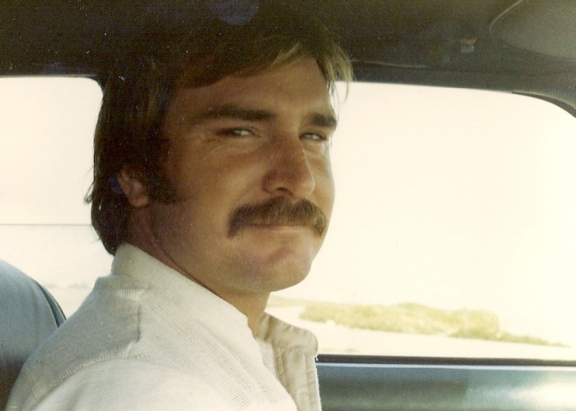 GOOD TIMES :  Mark Brown driving the family car in the early 1980s. - PHOTO COURTESY OF MARK BROWN'S FAMILY
