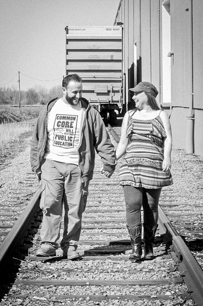 TWO ON THE ROAD:  Katie Ann and MC Zill, an engaged couple set to marry in 2016, who are traveling from New York to San Diego, stop in to play July 29, at Linnaea's Café. - PHOTO COURTESY OF KATIE ANN AND MC ZILL