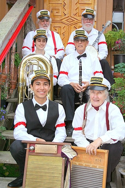 HOT JAZZ:  The Crustacea Jazz Band brings their upbeat sounds to the SLO Farmers' Market on Dec. 3 at the corner of Osos and Higuera. - PHOTO COURTESY OF THE CRUSTACEA JAZZ BAND