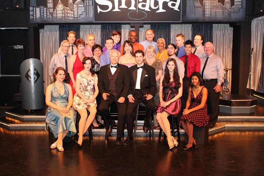 REGRETS, THEY'VE HAD A FEW … NOT! :  The cast of Swingin' with Sinatra is ready to reveal the go-cat crazy life of Old Blue Eyes, aka—The Voice, Frank Sinatra. - PHOTO COURTESY OF THE SLO LITTLE THEATRE