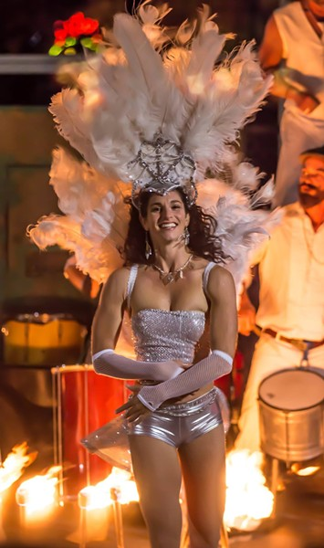 CARNAVAL!:  Santa Cruz-based Brazilian dancer Sidney Nicol (pictured) will perform at SLO Brew on Feb. 7 with Samba Loca and headliner the Zongo All Stars. - PHOTO COURTESY OF SIDNEY NICOL