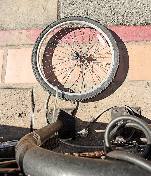 THAT'S NOT A UNICYCLE :  Cal Poly officials and SLO PD say bike thefts are up. What's a cyclist to do? - PHOTO BY STEVE E MILLER