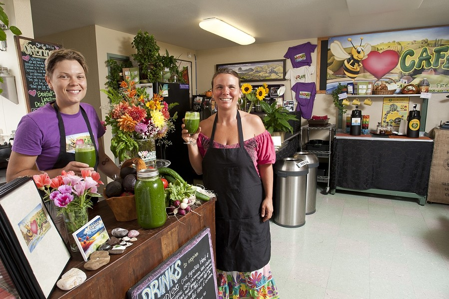 MSS NATURAL :  The co-creators of Be Love Café, Rachel Axtell (left) and Brandie Michelle, believe in unprocessed, wholesome fare to nourish building community. - PHOTO BY STEVE E. MILLER