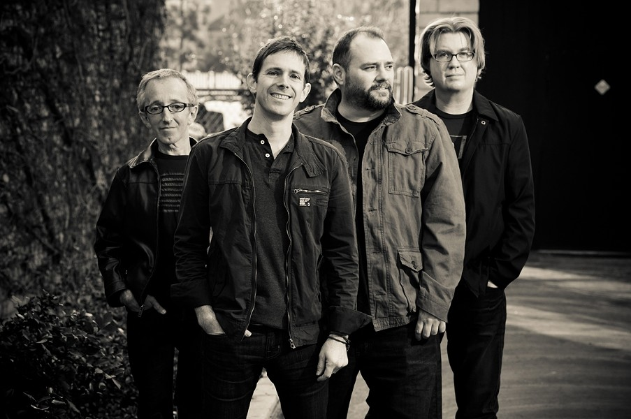 SECOND LIFE :  Toad the Wet Sprocket (left to right: Randy Guss, Glen Phillips, Todd Nichols, Dean Dinning) is nearing completion on a new studio album and playing SLO Brew on April 11. - PHOTO BY ROB SHANAHAN
