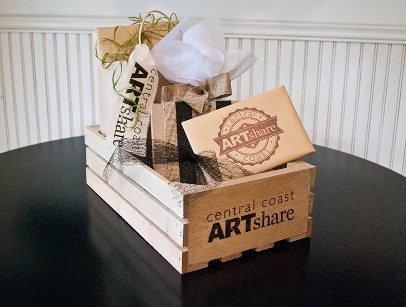 BOXED GOODS:  Patrons who purchase shares will receive their original, handcrafted art pieces in a package similar to the one pictured at an annual Pick-Up Party, where they can meets the artists amid the delights of wine, food, and music. - PHOTO COURTESY OF ROBIN SMITH