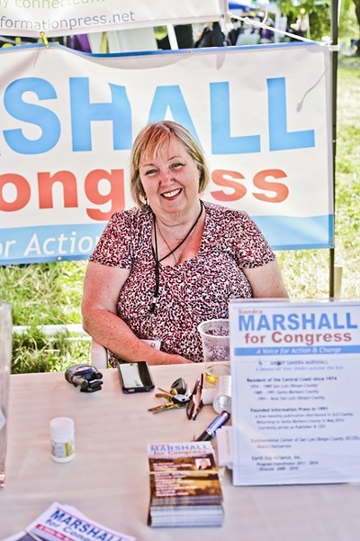 MARSHALL FOR CONGRESS:  Local activist Sandra Marshall wants to be Congressperson for the 24th District and bring her progressive ideas to D.C. - PHOTO BY GLEN STARKEY