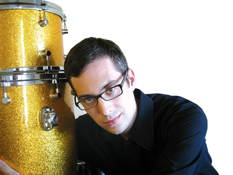JAZZ PRINCE:  azz drummer Matt Slocum leads his trio, with guest saxophonist Aaron Wolf, at Cuesta College's Experimental Theater on Sept. 27. - PHOTO COURTESY OF MATT SLOCUM
