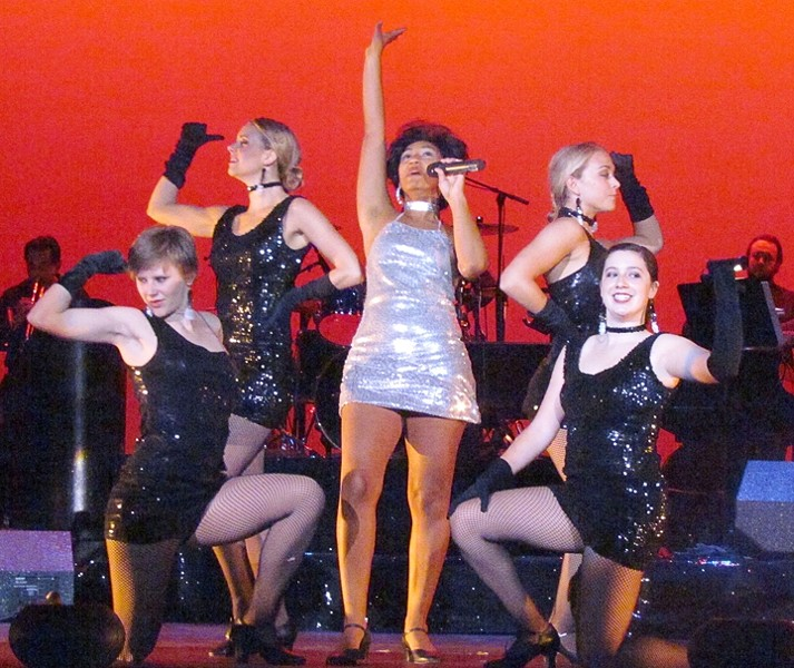 RESPECT! :  Clarissa Spiller kicks ass as Aretha, Diana, and Tina. - PHOTO BY EILEEN PATTERSON