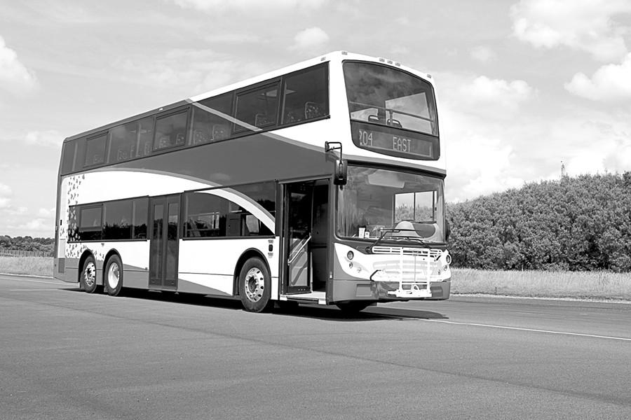 TWICE AS NICE :  This 40-foot double decker has a diesel under her bonnet. - PHOTO COURTESY OF ALEXANDER DENNIS LIMITED
