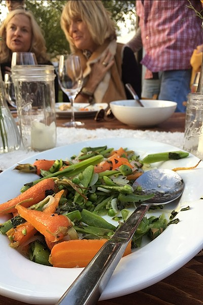 NATURE'S CANDY:  Spring carrots and beans make for a lush side dish. - PHOTO BY HAYLEY THOMAS