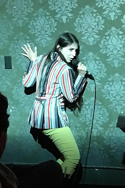 JUST TRY NOT TO LAUGH:  SLO comedian Biba Pickles' stand-up act has a theatrical bent and tackles everything from being bipolar, sex, and failed attempts at learning to drive. - PHOTO COURTESEY OF BIBA PICKLES