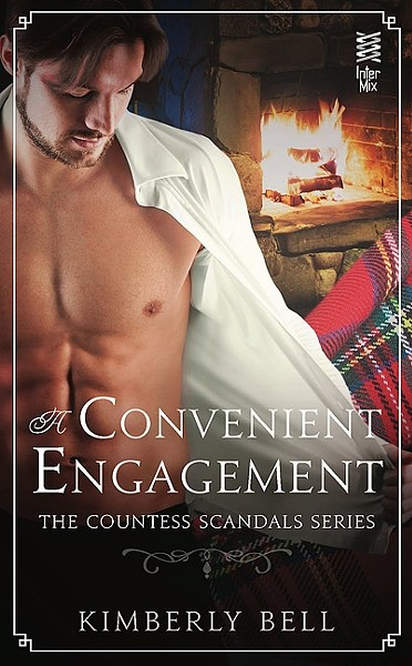 IT'S GETTING HOT IN HERE:  Kimberly Bell's 'A Convenient Engagement: The Countess Scandal Series' is ranked at the highest level of heat for romance novels, so expect plenty of descriptions of the Earl of Rhone's abs and more. - IMAGE COURTESY OF KIMBERLY BELL