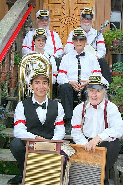 MORE COWBELL ... AND WASHBOARD!:  The Crustacea Jazz Band brings their upbeat early jazz sounds to the SLO Farmers' Market on March 17. - PHOTO COURTESY OF THE CRUSTACEA JAZZ BAND
