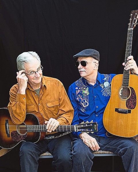 OLD TIMEY FUN:  Roots musicians Jim Kweskin and Geoff Muldaur play the next Red Barn Community Concert Series show on Dec. 3 in Los Osos' Red Barn. - PHOTO BY ROMAN CHO