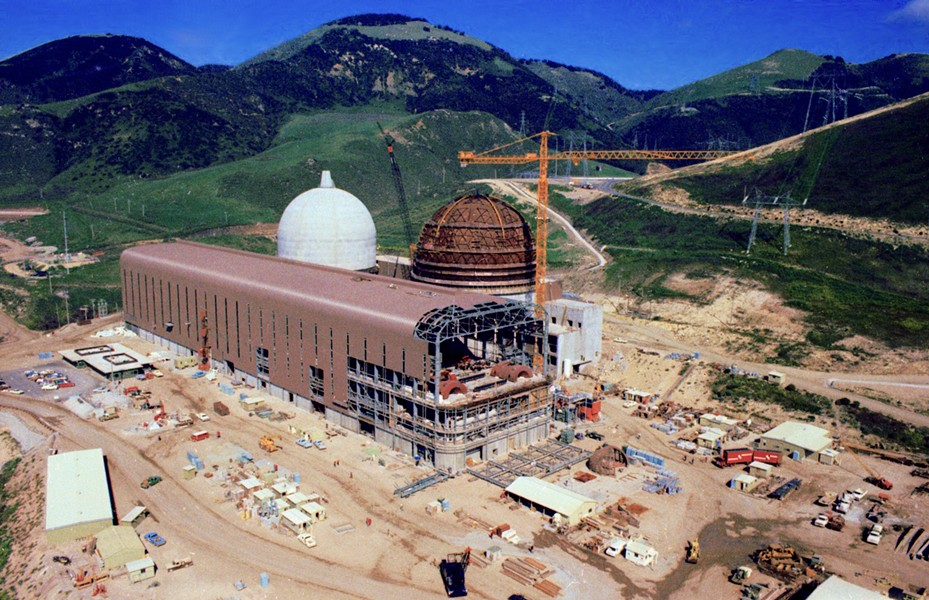IN THE BEGINNING :  Plans for the power plant were developed in the 1960s and '70s but Diablo wasn't built until the mid-1980s. - PHOTOS COURTESY OF PG&E