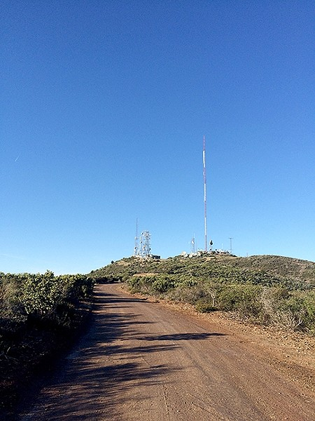 RADIO FOR YOU:  The towers looming from Tassajara Peak bring residents what they need, and you can trek up there and back from the road if you feel like adding another 0.4 miles to your hike. - PHOTO BY CAMILLIA LANHAM