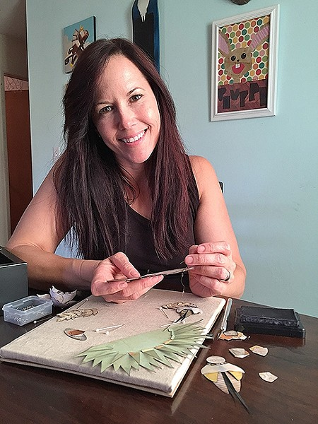 ARTIST AT WORK:  Lena Rushing has created art in SLO County for the past 20 years.