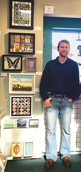 PAPER MASTER:  Pismo Beach-based artist Ryan Carroll has been working with paper cutting for the past two years. - PHOTO COURTESY OF GALLERY AT MARINA SQUARE
