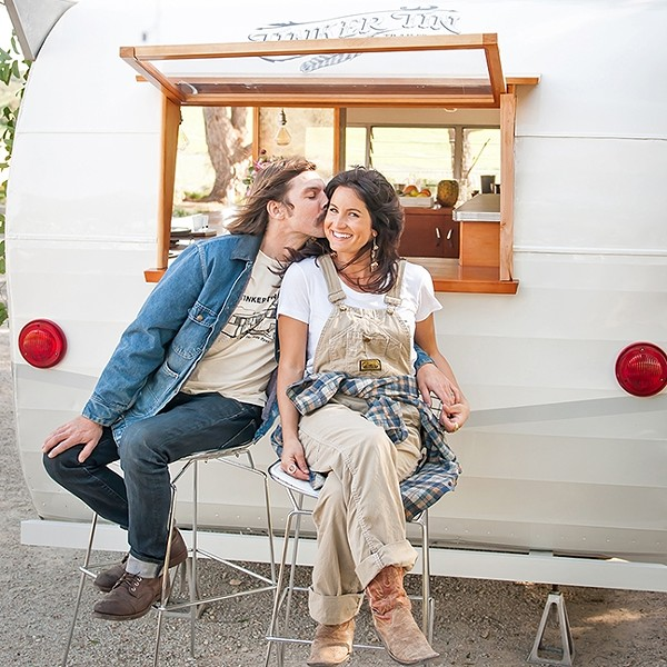 TRAILER ROYALTY:  Tinker Tin Trailer Co. Founders Carl and Jaime Holm have a deep respect for true craftsmanship, as shown through their unique fleet of vintage trailers. The duo recently opened the Trailer Pond, located at Adelaida Winery in Paso Robles. - PHOTO COURTESY OF TINKER TIN