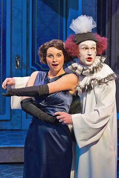 JUST A LITTLE FLING:  Maggie (Caroline Whelehan, left) and Max (Joe Ogren, right) are the romantic couple at the center of 'Lend Me a Tenor the Musical.' - PHOTO BY LUIS ESCOBAR/REFLECTIONS PHOTOGRAPHY STUDIO