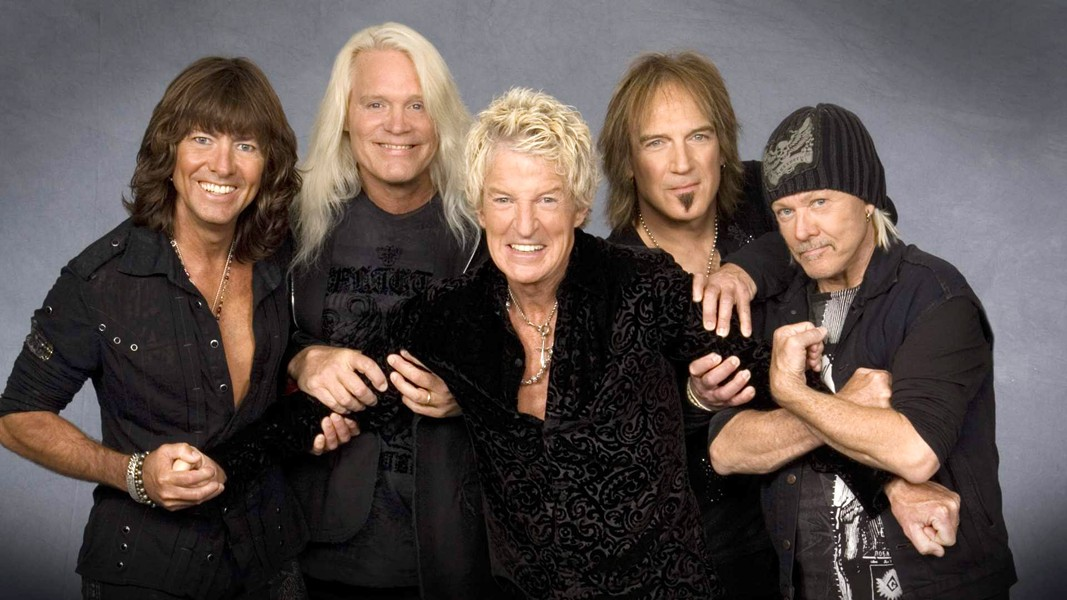 KEEP ON LOVING YOU REO Speedwagon (pictured) headlines the Vina Robles Amphitheatre on June 25, appearing with Styx and former Eagles guitarist Don Felder. - PHOTO COURTESY OF REO SPEEDWAGON