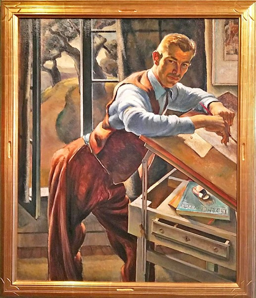 THE CURATOR Carl by artist Phil Paradise was painted in 1939 and is one of the older pieces in the collection. - IMAGE COURTESY OF THE SAN LUIS OBISPO MUSEUM OF ART