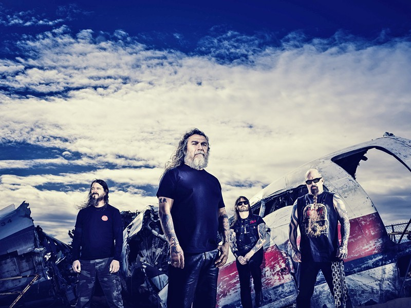 SATAN'S LITTLE HELPERS Iconic death metal act Slayer headlines a three-act show at Vina Robles Amphitheatre on Aug. 8. - PHOTO COURTESY OF SLAYER