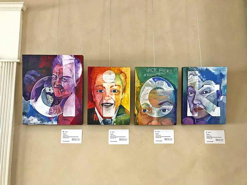 SPELL IT OUT Transgender artist RawfeyL's work in his most recent exhibit is largely made out of recycled canvases and repurposed materials. - IMAGE COURTESY OF RAWFEYL
