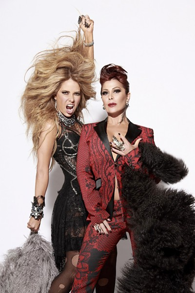 GUERRA DE MUJERES Mexican pop divas Gloria Trevi and Alejandra Guzmán face off in a special concert on Sept. 24, at Vina Robles Amphitheatre. - PHOTO COURTESY OF GLORIA TREVI AND ALEJANDRA GUZMÁN