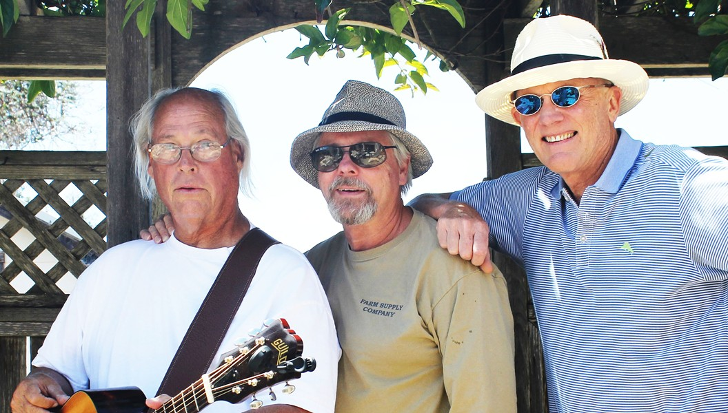 PET SOUNDS Vintage pop, rock, and blues act Mitchell Street (left to right John Letham, Hans Langfeldt, and Paul Pickering) play the Greener Pastures Farm Sanctuary fundraiser on Sept. 23 in SLO's Oddfellows Hall. - PHOTO COURTESY OF MITCHELL STREET