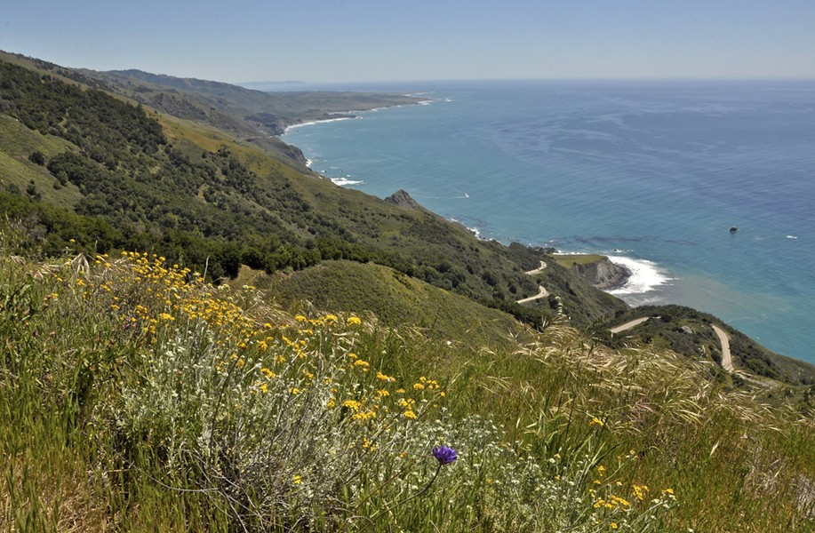 VIEWSHED A gander south toward Cambria from one of the perches afforded by a trek up the Buckeye Trail will make the climb worth the work. - PHOTO BY CAMILLIA LANHAM