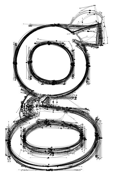 IN PROGRESS Here, one can see Nina Stössinger's process for creating her Nordvest font, which translates to Northwest. - IMAGE COURTESY OF NINA STÖSSINGER