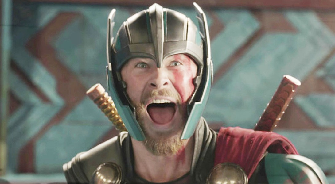 GOD OF THUNDER! After Thor (Chris Hemsworth) loses his hammer and is imprisoned on the other side of the universe, he must fight his way back to Asgard and stop its destruction, in Thor: Ragnarok. - PHOTO COURTESY OF MARVEL ENTERTAINMENT