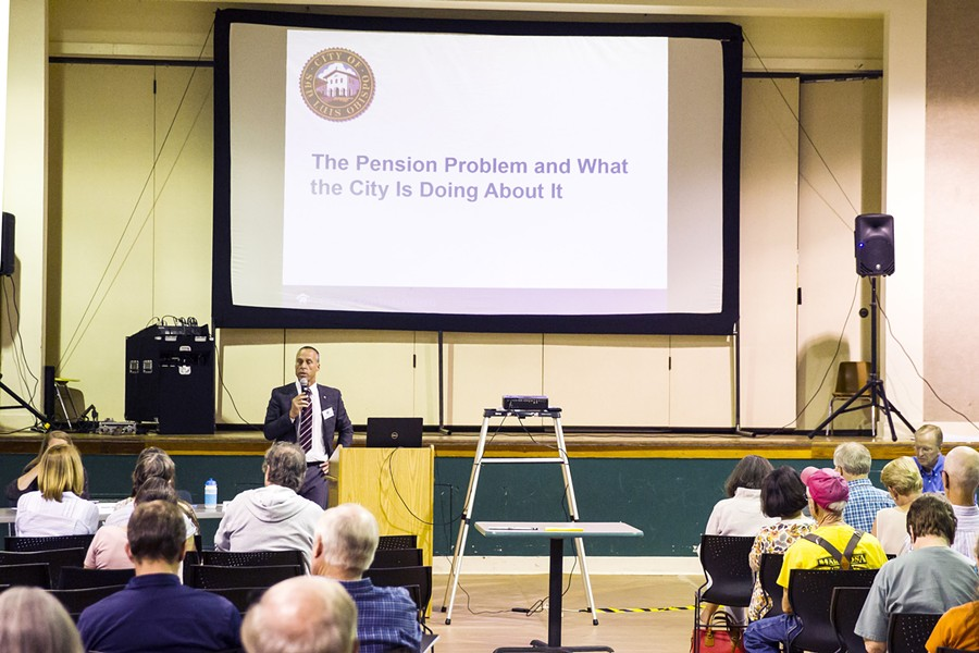 PENSION TENSION Pension debt is affecting nearly every government budget in SLO County. - FILE PHOTO BY JAYSON MELLOM